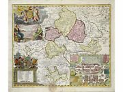 Hildburghausen Saxony Antique Map Germany By Homann 1716   Provincial Old Maps.