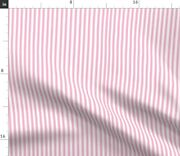 Pinstripe Baby Pink White Stripes Girl Nursery Spoonflower Fabric By The Yard