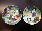 Knowles Disney Snow White 8.5 Collector Plates Set Of 2