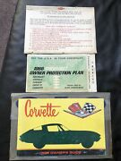 1966 Corvette Owners Guide First Edition With Protect-o-plate Rare