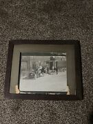 Antique World War One Ambulance Ww1 American Flags Picture Frame Rare