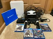 Sony Playstation 4 Ps4 500gb Vr Bundle Headset Move Controllers Camera 4 Games