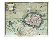 Douai France Old Plan Of The City Of Doway Rapin 1743 | Fortifield City Douai