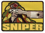 Job Lot Of 14 Embroidered Sniper Badges. Army Military Airsoft Paintball Patches