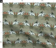 Fair Hunter Equestrian Horse Pony Spoonflower Fabric By The Yard