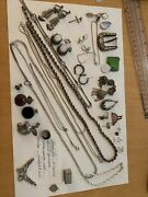 Junk Drawer Lot Of Sterling Jewelry237 Grams