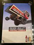 1986 Coors Beer Silver Bullet Jumping Combine Deadstock Poster 20x28