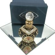 Dazzlers Collectibles Perfume Bottle, Black And Gold Ornate Crystal Jeweled Coa