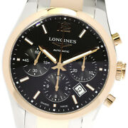Longines Conquest L2.786.5 Chronograph Black Dial Automatic Menand039s Watch_631793