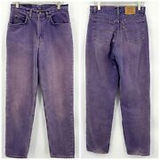 Vintage Leviand039s 560 Orange Tag Jeans High Waist Mom Tapered Leg Zip Fly Size 30