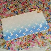 New Louis Vuitton By The Pool Pochette In Summer Blue W/ Box And Receipt.