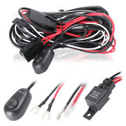 On/off Switch Relay Cable Wiring Harness Kit 12v 40a Led Work Fog Light Bar Kit