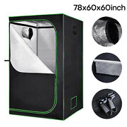 60x60x78 Grow Tent Box Hydroponic Indoor Plant Veg Thick Oxford Growing Room