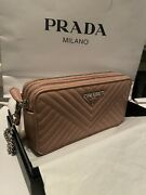 Prada Pink Triangle Patch Crossbody Bag - Silver Chain - Sold Out Everywhere