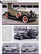 1931 Hudson + Essex Article - Must See
