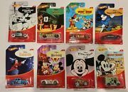 2018 Hot Wheels Disney Mickey Mouse Complete Set Of 8 Car Walmart Exclusive Rare