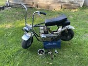 Vintage Montgomery Wards Mini Bike Xe525 With 2 Speed Clutch For Restore