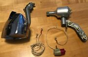Vintage Chrome Bicycle Headlamp - Generator - Taillight = Sears Made In Japan