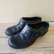 Womens Merrell Lux Plunge Leather Performance Footwear Black Mules Size 8.5
