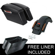 Hard Saddle Bags And Rear Fender System Fit For Harley Touring Street Glide 14-21