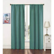 Light Filtering Curtain Panel Window Privacy Blinds Shade Rod Pocket Pair Teal