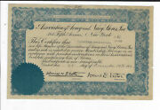 New York 1922 Association Of Army And Navy Stores Inc Stock Certificate