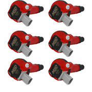 Msd Red Coil For Ford Eco-boost 3.5l V6 10-13 Reliable 2 Pin Connector 6-pack