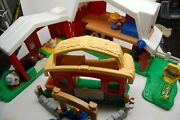 Fisher Price Farm Playset Lot 2 Sets Barn Animals Little People Horse Cow Pig