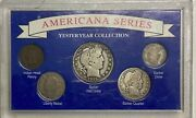 Americana Series Yesteryear Coin Collection With 3 Silver Barber Coins 5882