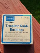 Sears Craftsman Template Guide Bushings Router 3 Sizes - 925069