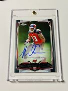 2014 Topps Chrome Mini Mike Evans Rc Rookie Auto 185 Tampa Bay Buccaneers