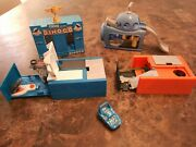 Diney Pixar Dinoco Toy Car With Accessories And Matchbox Fold Up/pop Up Play Sets