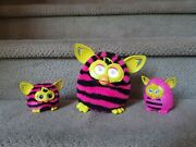 Pink And Black Furby Boom, Furbling, And Mcdonalds Toy Bundle