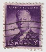1945 Usa - 1st Anniversary Death Alfred E. Smith - 3 Cent Stamp
