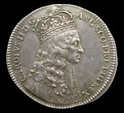 1661 Charles Ii Coronation 29mm Silver Medal - By T.simon