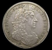 1685 Coronation Of James And Mary 34mm Silver Medal By Roettier - Mule