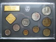 Ussr Russia 1979 Unc Coin And Mint Token Set By Leningrad Mint Kopeck - 1 Ruble