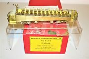 Rare Mint Mts Imports Brass O Scale Montreal Sightseeing Trolley 1 And 2 -2 Rail