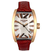 Locman Panorama Gold Mother-of-pearl Dial Quartz Womenand039s Watch Ref.153 29x39mm