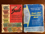 2 Vintage 1947 Sears Catalogs Midsummer And Midwinter Fashion Toys Home Original