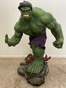 Sideshow Hulk Premium Format Statue With Exclusive Portrait Head Low Number