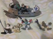 Star Wars Galactic Heroes Jabbas Skiff The Pit Of Carkoon Set Boba Fett And 6 Figs
