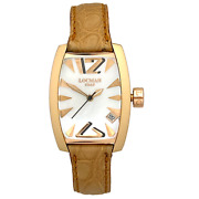 Locman Panorama Gold Mother-of-pearl Dial Quartz Womenand039s Watch Ref 153 29x39 Mm