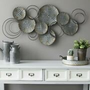 Farmhouse Wall Decor Rustic Dining Country Industrial Plates Geometric Sculpture