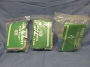 Lot 3 Vintage First Aid Kits Bandages Certified Safety Mfg. 2 Full, 1 Partial