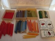 """Lot Of 110 Tiny Tapers Candles 6-8"""" Red White Green Blue Rose And More"""