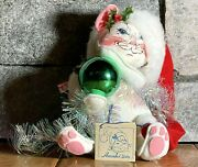 Vintage Annalee 10 Inch Christmas Cat Kitten W/ Garland And Ornament 1995 W/tags