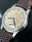 Rare Omega Military Wwii 1935 Cal. 26.5 Sob Sector Dial 31mm Mens Watch Serviced