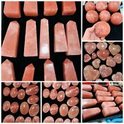 15 Kg Mix Deal Red Calcite Hearts ' Palms ' Spheres ' Towers ' Lots Crystal