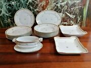 Rosenthal Germany Renaissance - Antique 16 Piece Dinner Service White With Gold